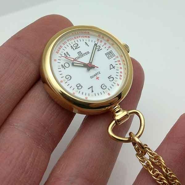Nurse watch gold plated