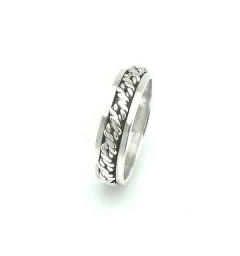 Silver anti-stress ring