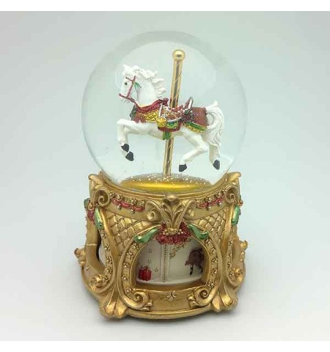 Big snowball with carousel