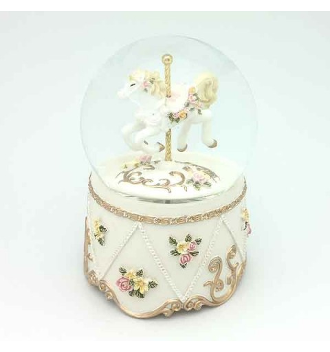 Snowball with white carousel