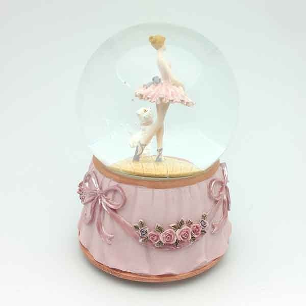 Ballerina snowball with cat