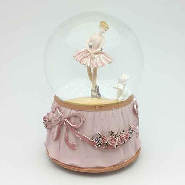 Ballerina snowball with cat