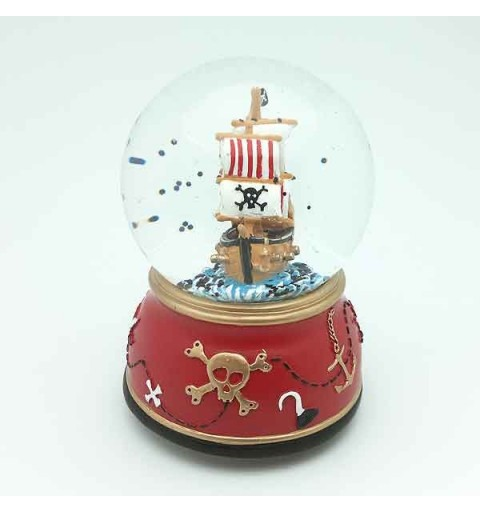 Bola de nieve barco pirata