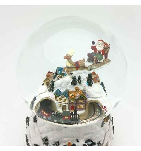 Snowball santa claus train