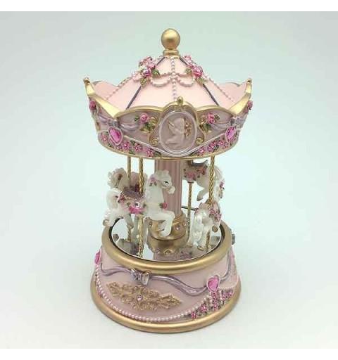 Pink Musical carousel