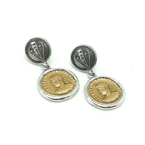 Pendientes monedas
