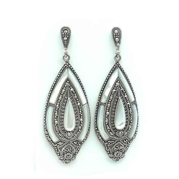Nacre long earrings