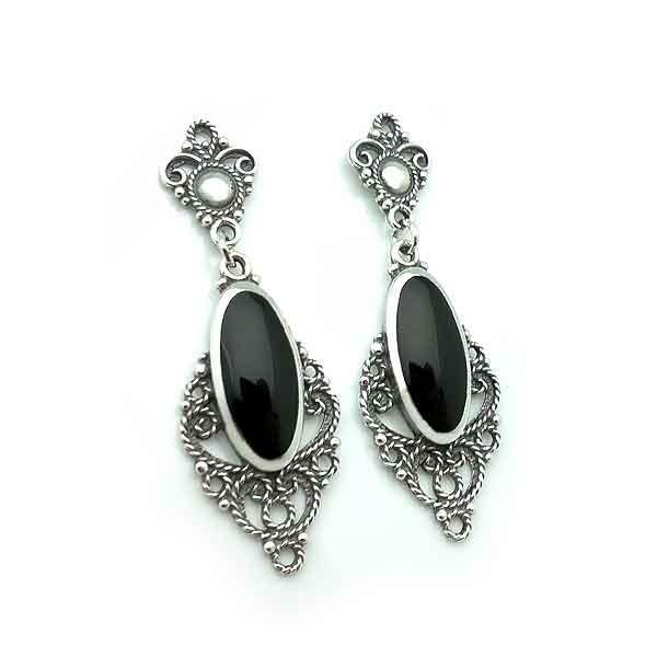 Long jet earrings