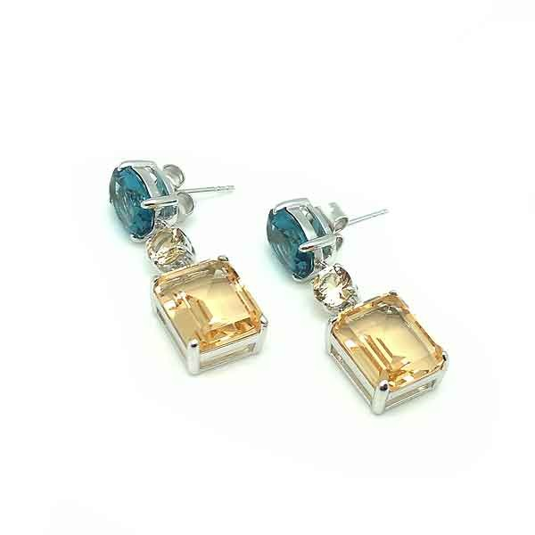 Yellow zirconia earrings