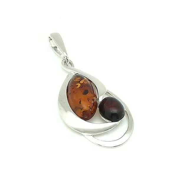 Amber pierced pendant