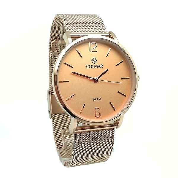 Copper gold watch