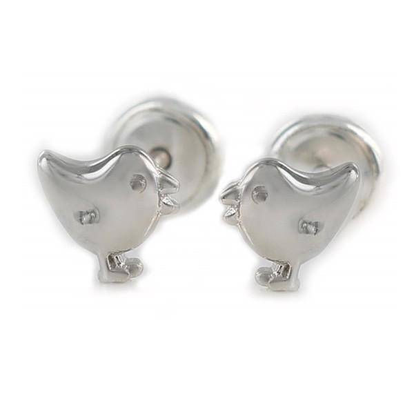 Pendientes para bebé en plata.