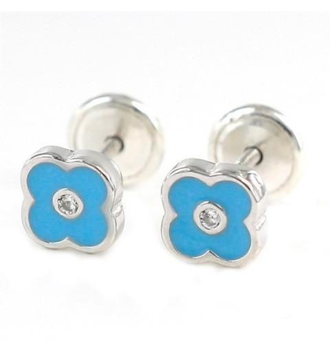 Baby earrings in silver.