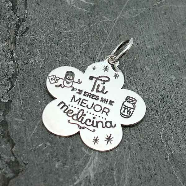 Pendant with valentines message