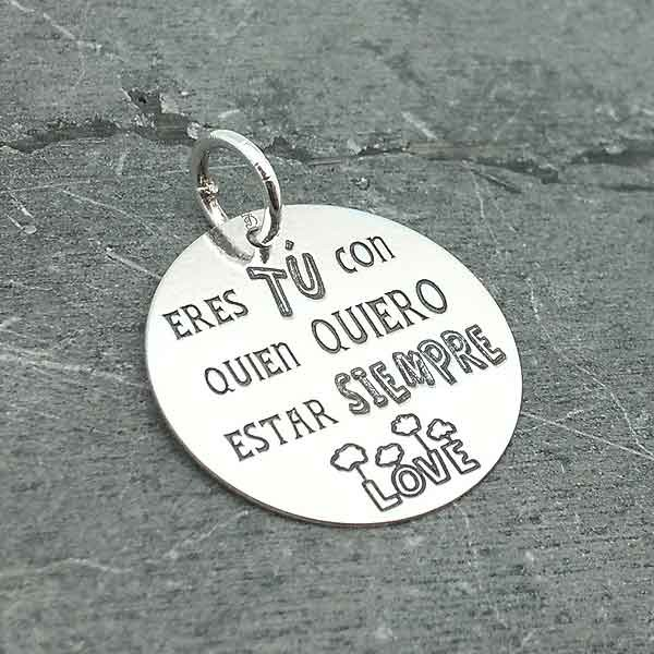 Pendant with message Valentine's Day