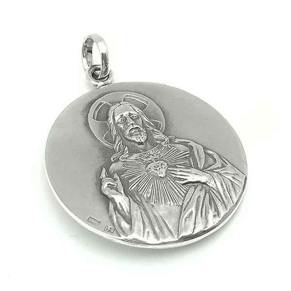 Medalla del Escapulario en plata.