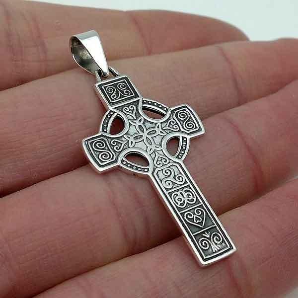 Cross with Celtic symbols