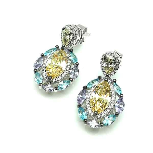 Teardrop zirconia earrings