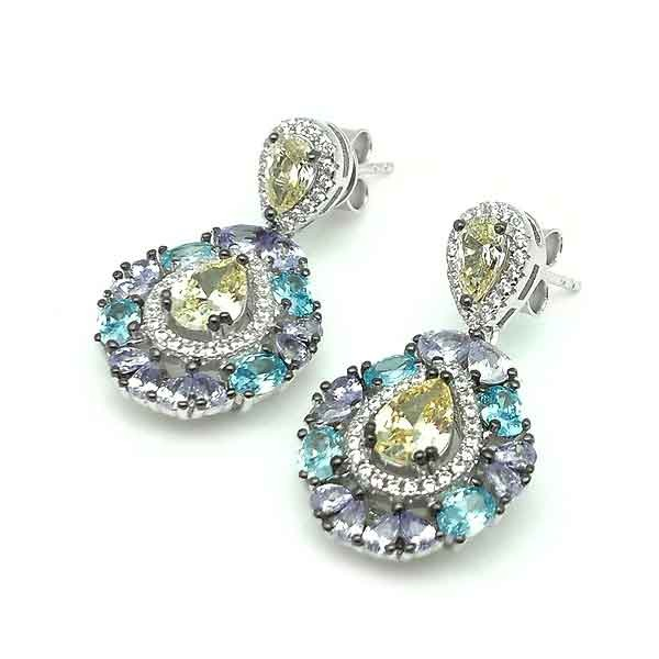 Colors zirconia earrings