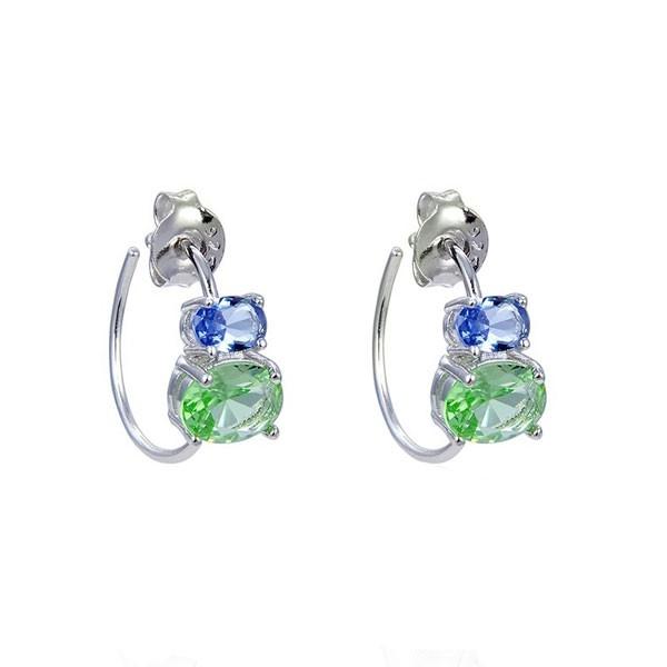 Hoop earrings with stones