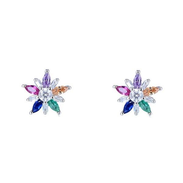 Flower zirconia earrings
