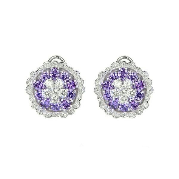 Mauve zirconia earrings