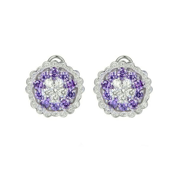 Mauve zirconia earrings