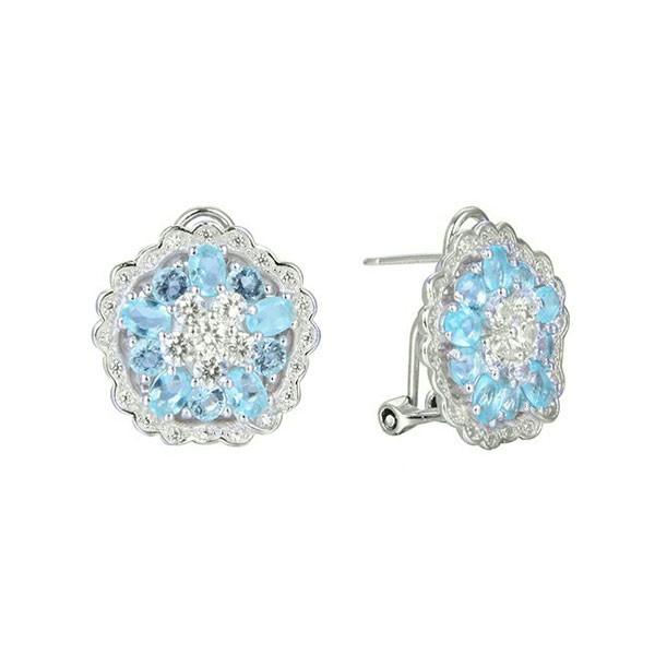 Blue zirconias earring