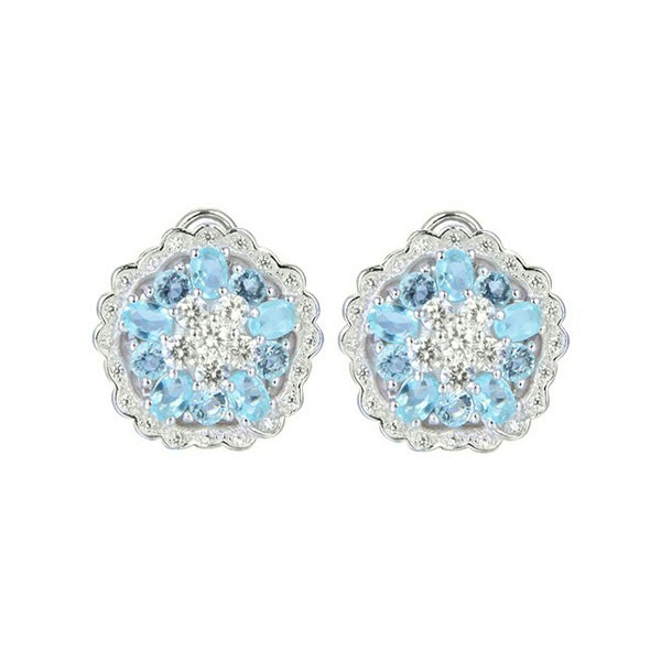 Blue zirconias earring