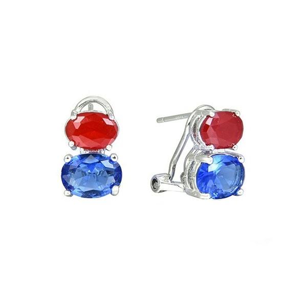 Two zirconias earring
