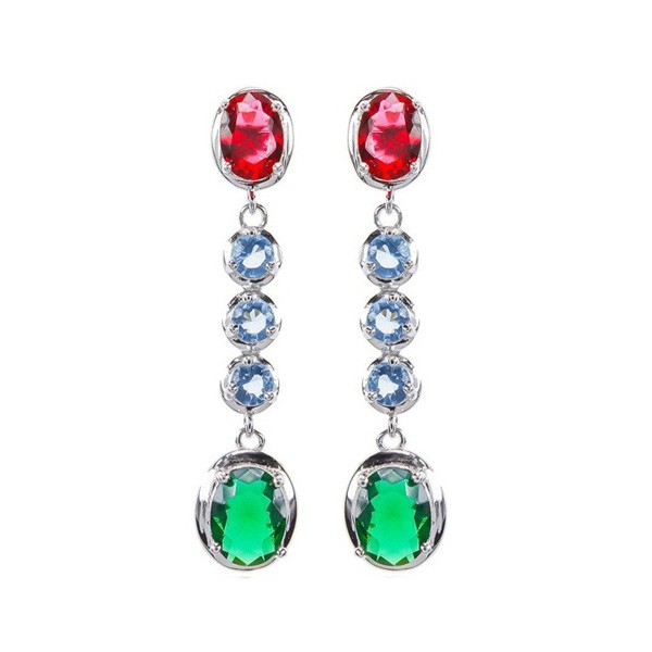 Long earrings zirconias