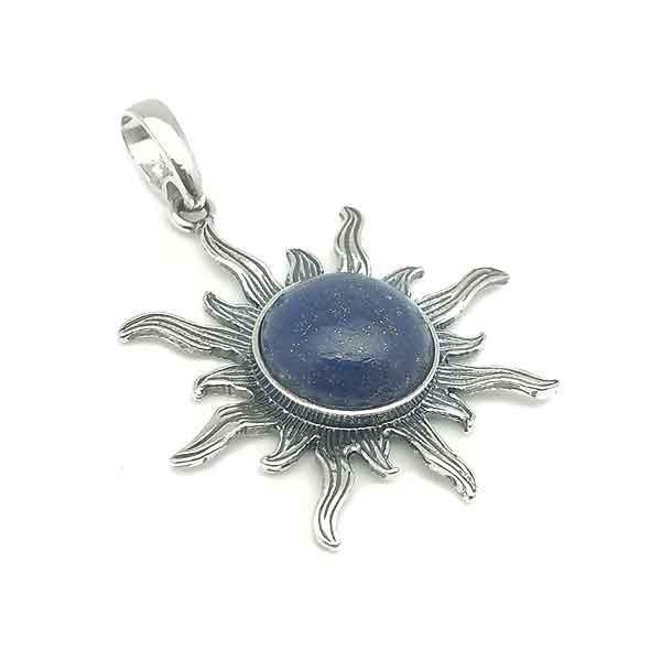 Sun Lapislazuli Pendant