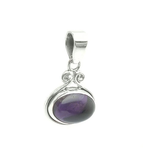 Amethyst smooth pendant