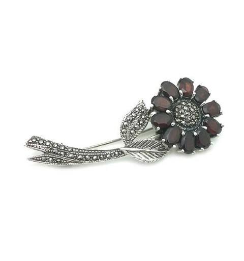Broche flor de granates