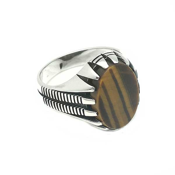 Tiger eye seal ring