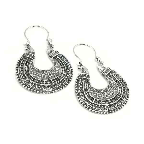 Balinese hoop earrings
