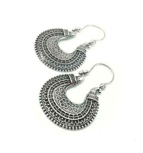 Balinese hoop earrings