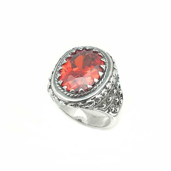 Padparadscha ring