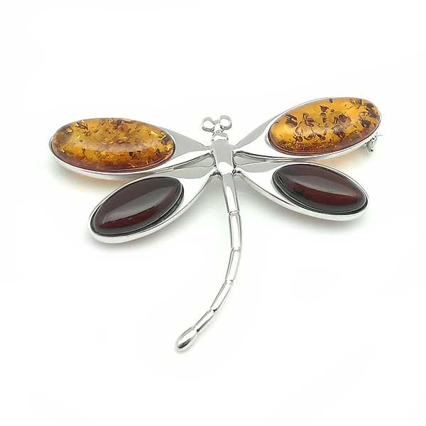 Amber Dragonfly brooch