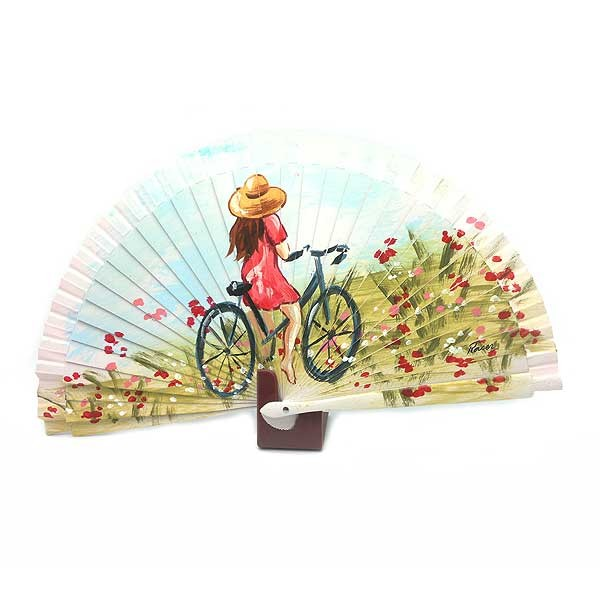 Abanico chica bicicleta
