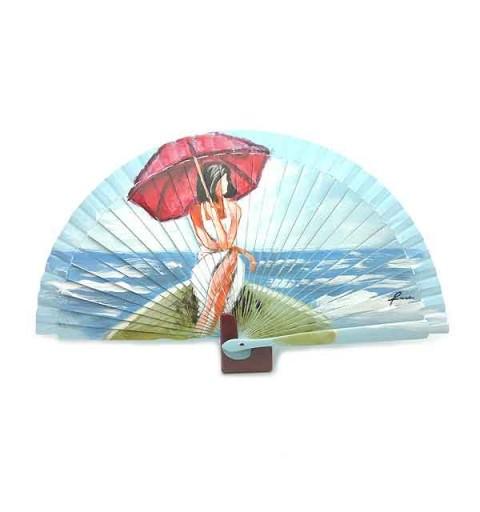 Fan umbrella girl