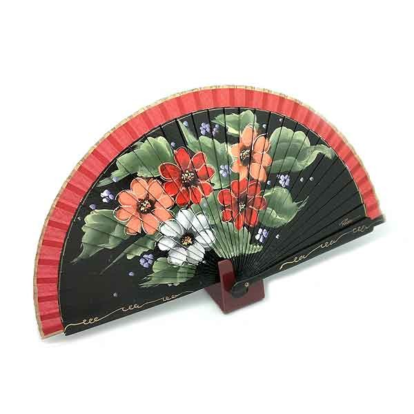 Red flowers fan