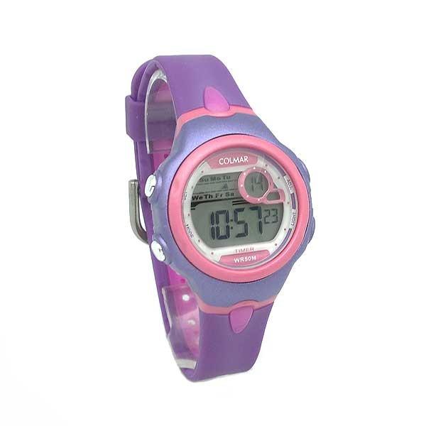 Reloj digital mujer o niños, violeta