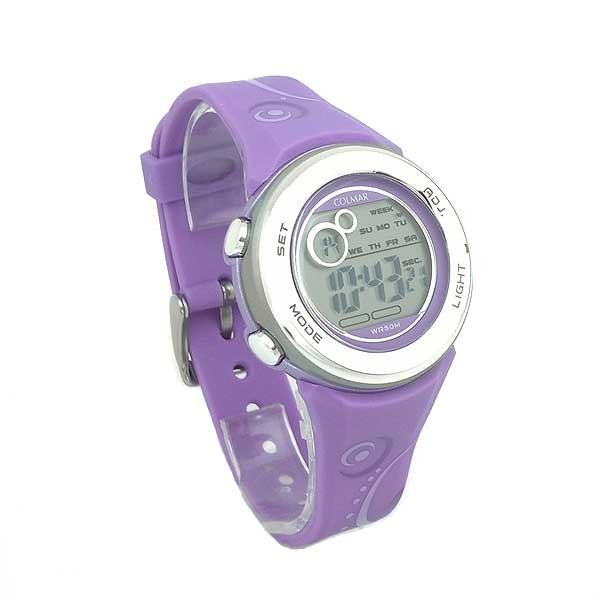 Reloj digital mujer o niños malva