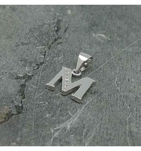 Initial pendant, letter M.