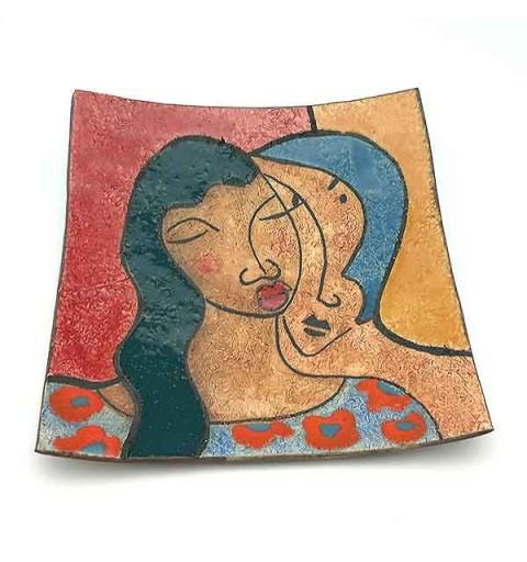 ceramic dish couple