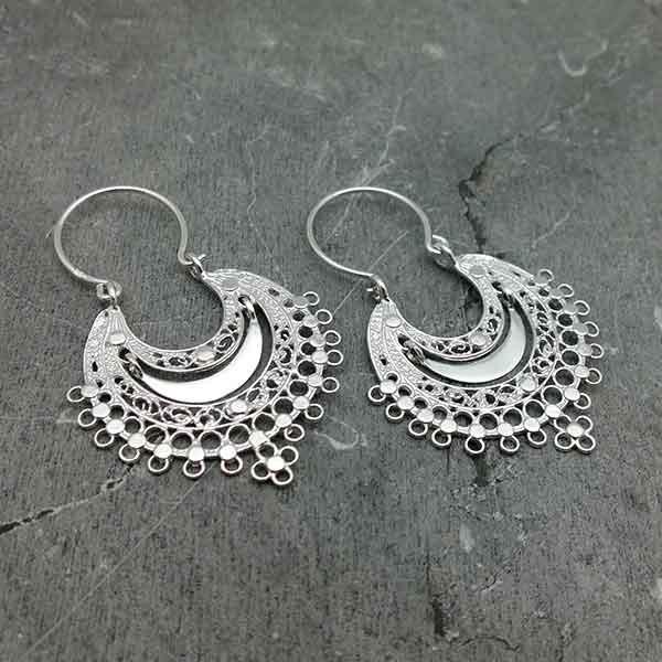 Filigree hoop earrings