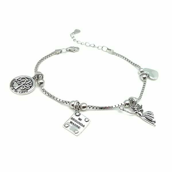 Silver bracelet for godmother