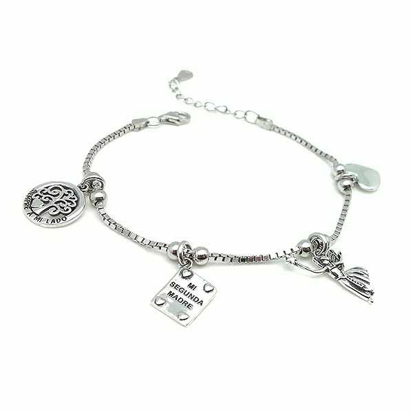 Silver bracelet for godmother