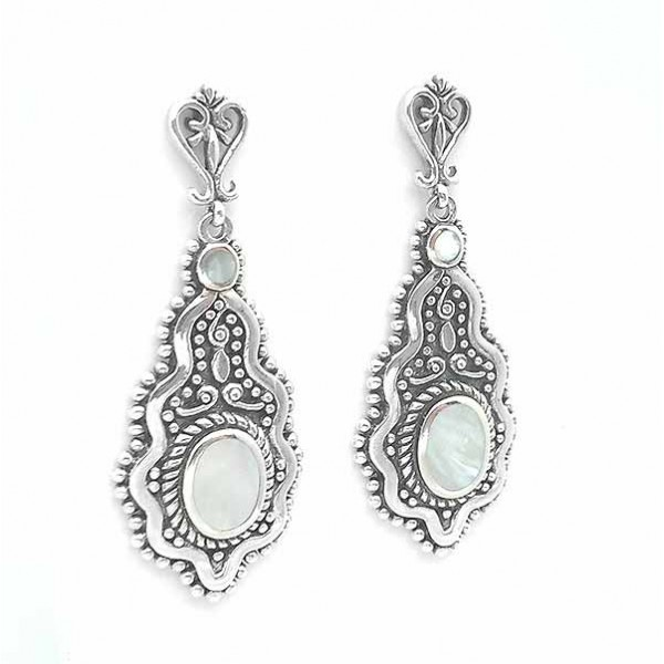 Silver and mother of pearl earrings